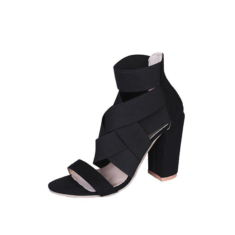 Chic Thick Fish Mouth Hollow Sexy Female Sandals