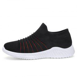 Men'S Flying Woven Breathable Running Shoes Casual Sports Men'S Shoes S1906 -