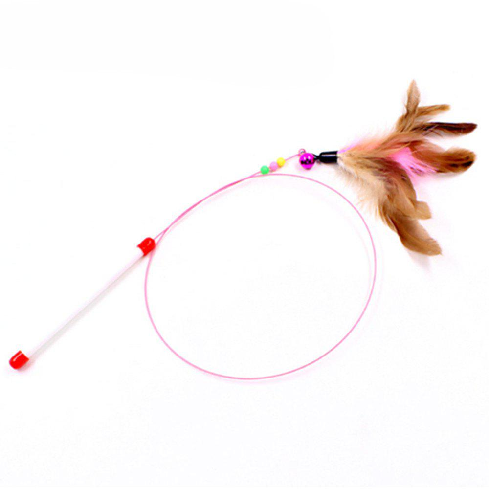 Chic Cat Toys Feather Stick Spring Suction Cup Pet Teaser Funny