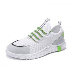 Men'S Summer Flying Woven Shoes Mesh Breathable Shoes Sneakers -