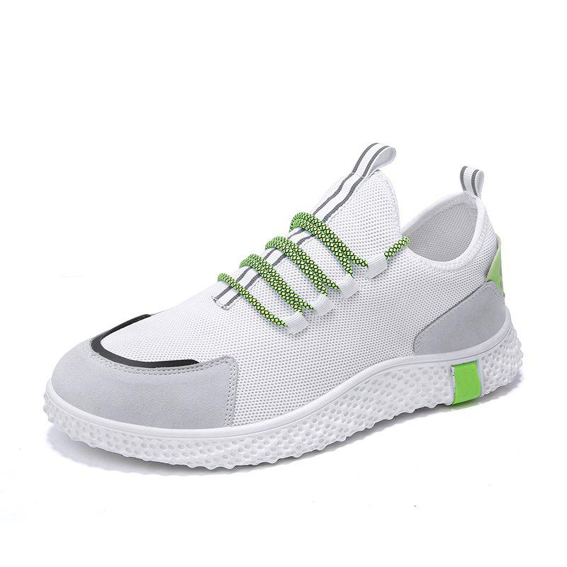 Outfit Men'S Summer Flying Woven Shoes Mesh Breathable Shoes Sneakers