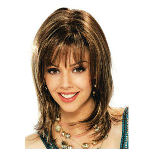 Fashion Orderly Bangs Bob Chemical Fiber Head Cover Wig Female