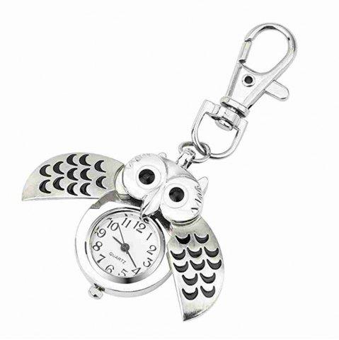 Owl Watch Keychain Clip Pocket Watch