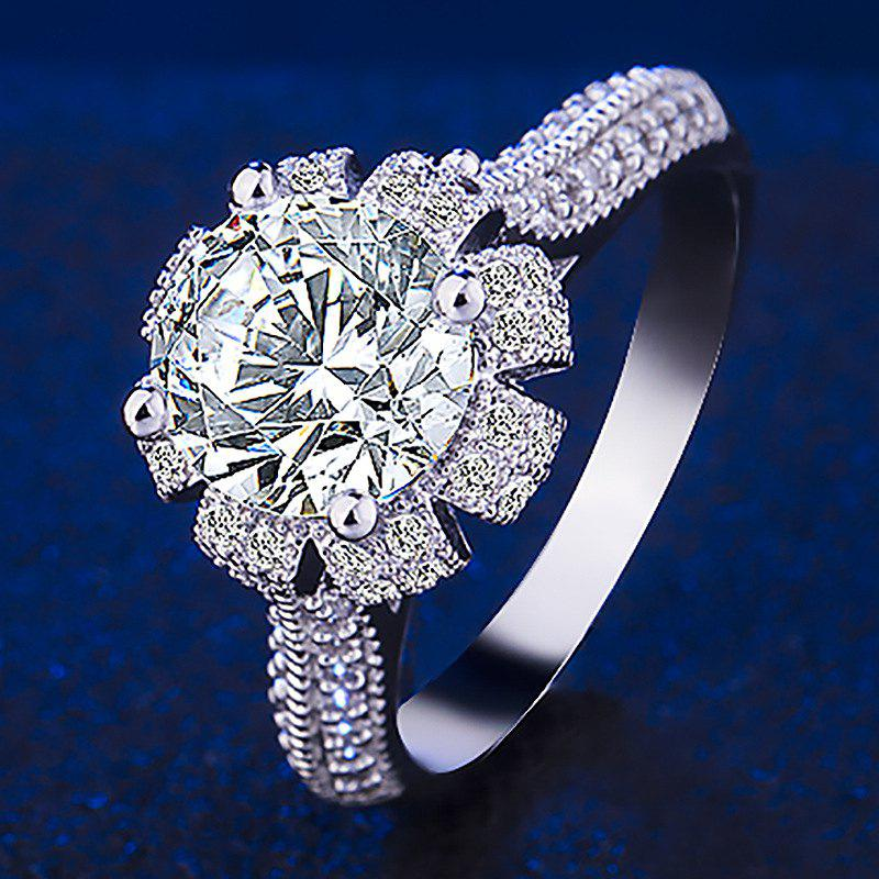 9a7008d7a3ef 2019 Fashion Queen s Crown Luxury Platinum Plated Diamond Ring Gifts ...