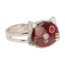 Cat Temperature Change Color Mood Ring Adjustment Size 1PC -
