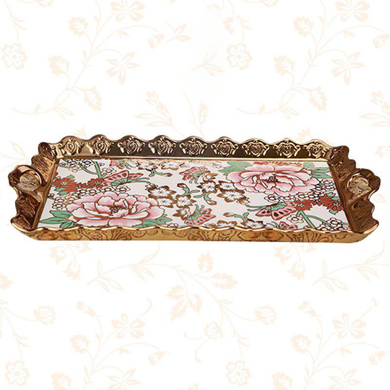 Store European Luxury Ceramic Tray Household Creative Fruit Plate