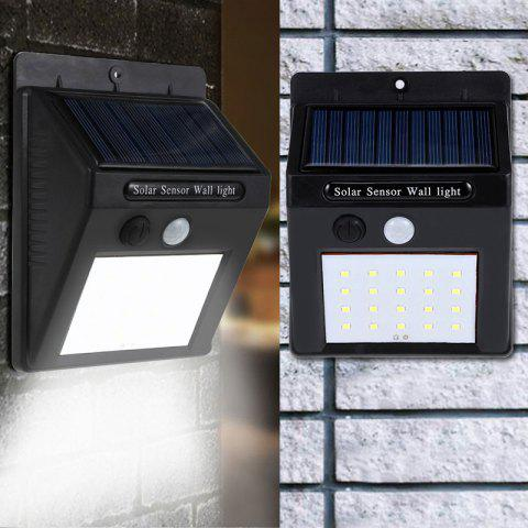 Human Body Induction Outdoor Solar Garden Lawn 20LED Waterproof Wall Lamp 2 Pack