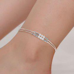 Double Pearl Anklet Female Scrub Cute Fashion Foot Jewelry Bracelet -