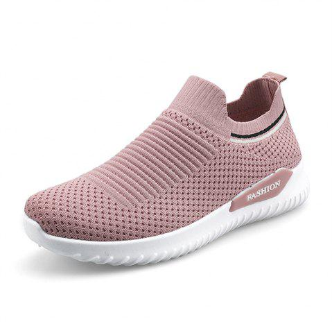 Casual Lightweight Fly Knit Sneakers Shoes Fashion Women'S Sports Shoes