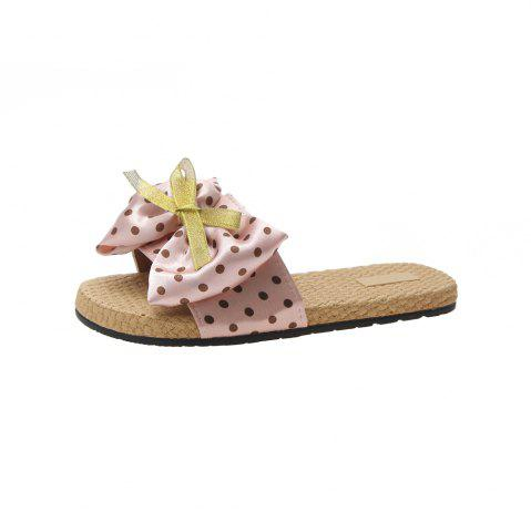Flat Bottom Wave Point Bow Female Slippers