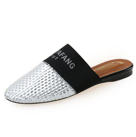 1d004b56690 BAOYAFANG Woven Women S Shoes Round Head Flat Shoes