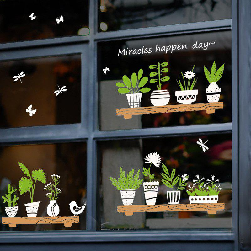 Fresh Plants Potted Removable PVC Wall Sticker
