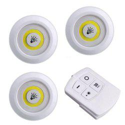 LED Under Cabinet Light Puck Lights Closets Lights with Remote Control 3pcs -