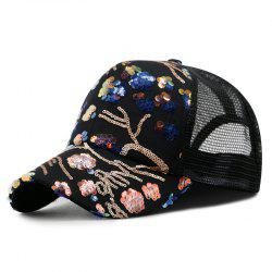 Summer Sequin Baseball Cap + Adjustable for 56-59CM -