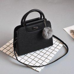 New Fashion Frosted Wool Ball Bag Portable Messenger Bag -