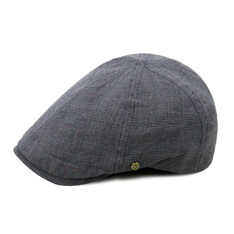 Buy Checkered Octagonal Cap + Suitable for 59-60CM Head Circumference