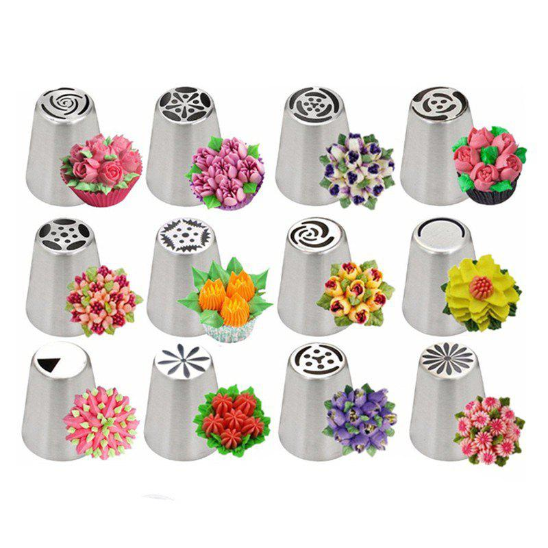 Stainless Steel Russian Tulip Icing Piping Nozzles 14PCS