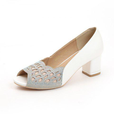 Fish Mouth Thick Hollow Female Sandals