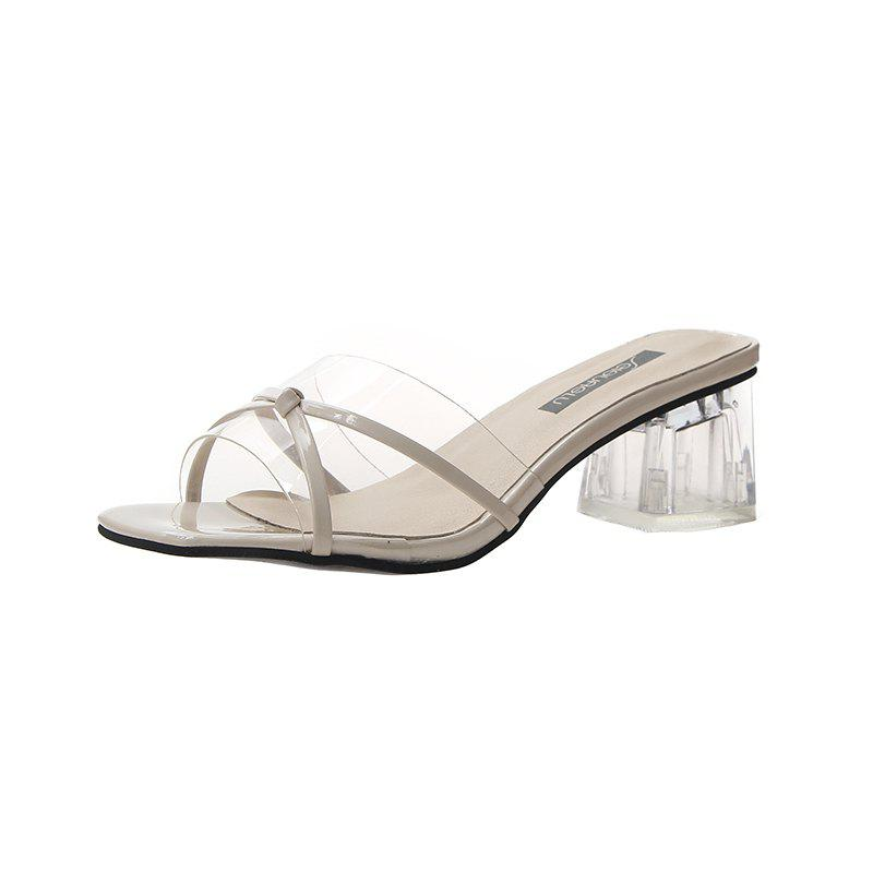 Outfit High-Heeled Bow Transparent Slippers