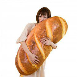 Funny 3D Simulation Bread Shape Pillow Soft Lumbar Cushion Plush Stuffed Toy -