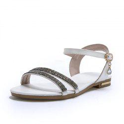 Summer Water Drill Flat Sandals with Buckle Strap -