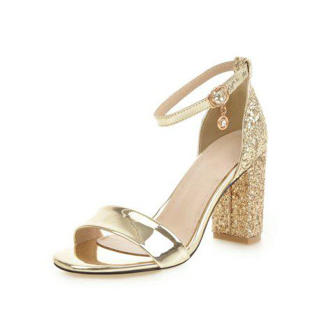 abe71cf28 Chunky Stiletto Sandals for Wedding Reception