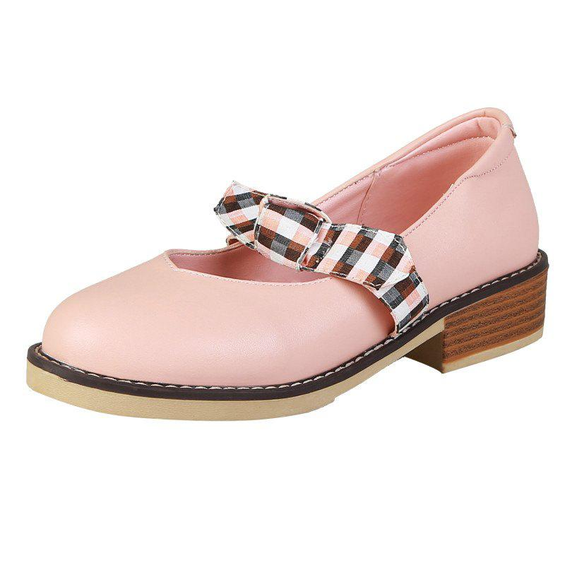 Shop Medium Thick with Contrast Bow-knot Women Casual Shoes