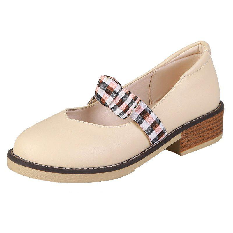 Latest Medium Thick with Contrast Bow-knot Women Casual Shoes