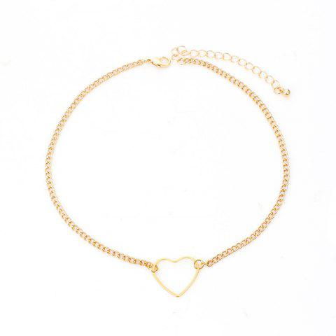 Simple Hollow Love Clavicle Chain Small Fresh Alloy Necklace