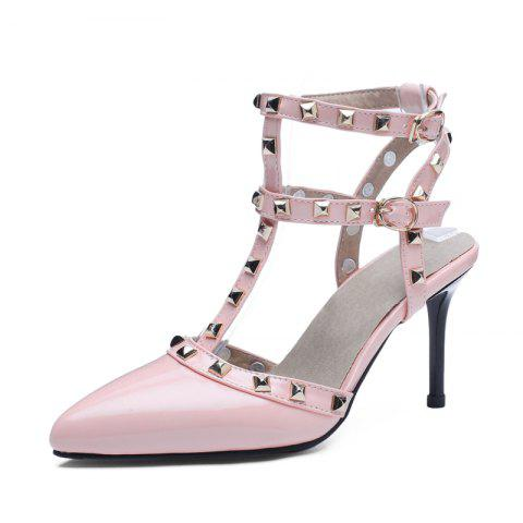 24599737cd7 Fashion Pointed Toe Rivets Buckle Strap Stilettos Heels Lady Sandals