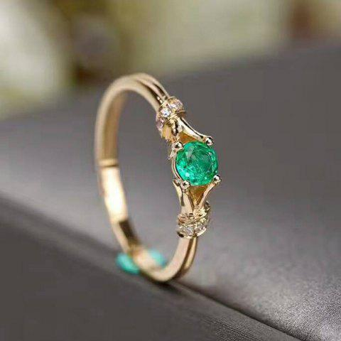 Fashion Delicate Ladies 14K Gold-Plated Green Wedding Ring