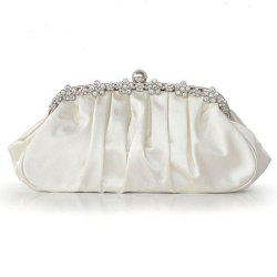 New Silk Pleated Evening Dress Bag for Ladies -