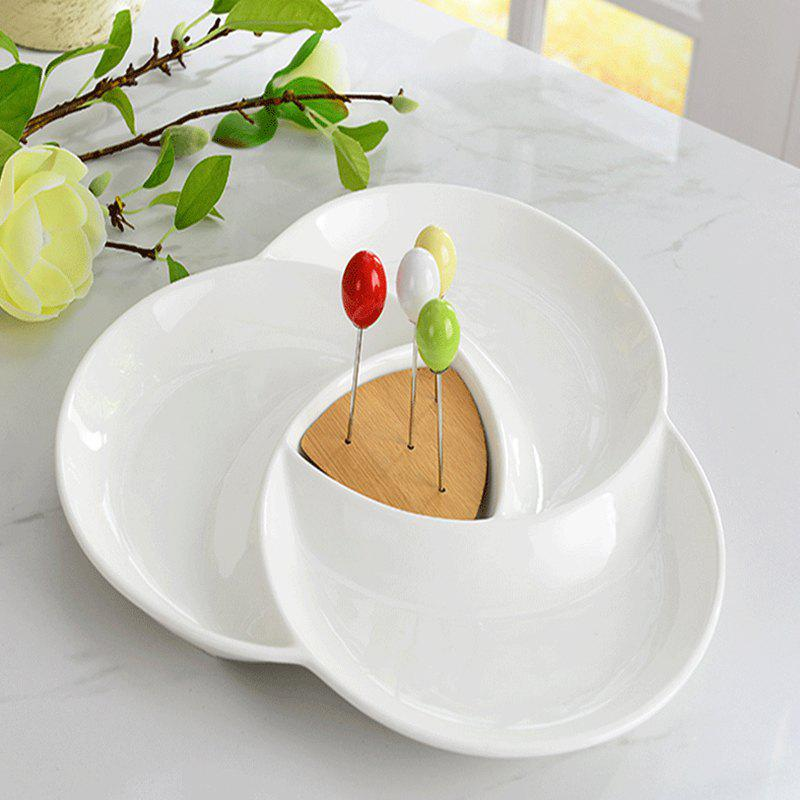 Trendy Ceramic Creative Household Multi Functional Dessert Platter