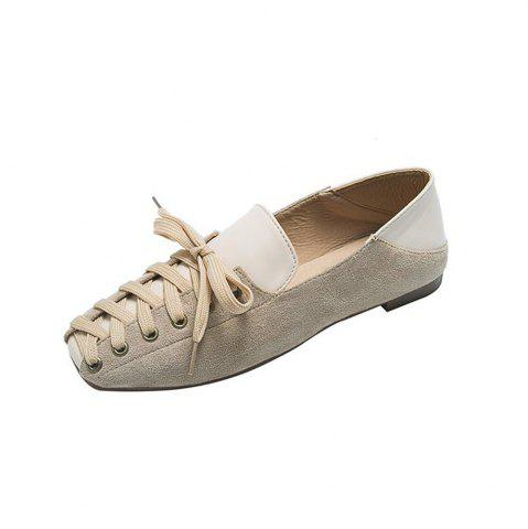 Comfortable and Stylish Casual Women Flat Shoes with Front Tie