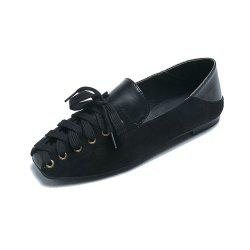 Comfortable and Stylish Casual Women Flat Shoes with Front Tie -