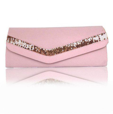 Simple Sequins on Check Dinner Bag Color Cloth Single Lady Bag