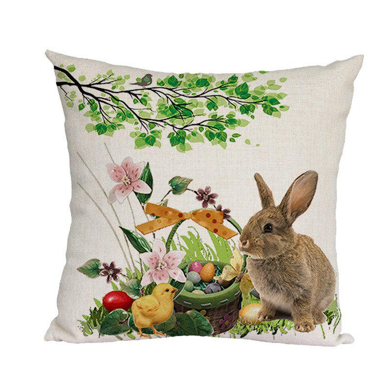 Affordable Easter Pattern Office Pillow Linen Pillowcase Sofa Cushion Cover