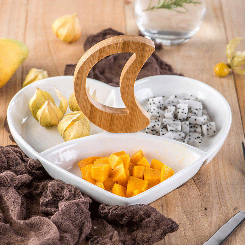 Unique Ceramic Multi Grid Fruit Dried Fruit Snack Plate
