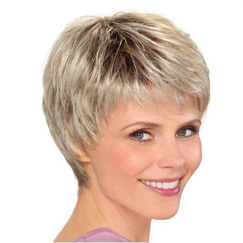 27e5aca4b Fashion Woman Golden Gradient Short Hair High Temperature Synthetic Wig