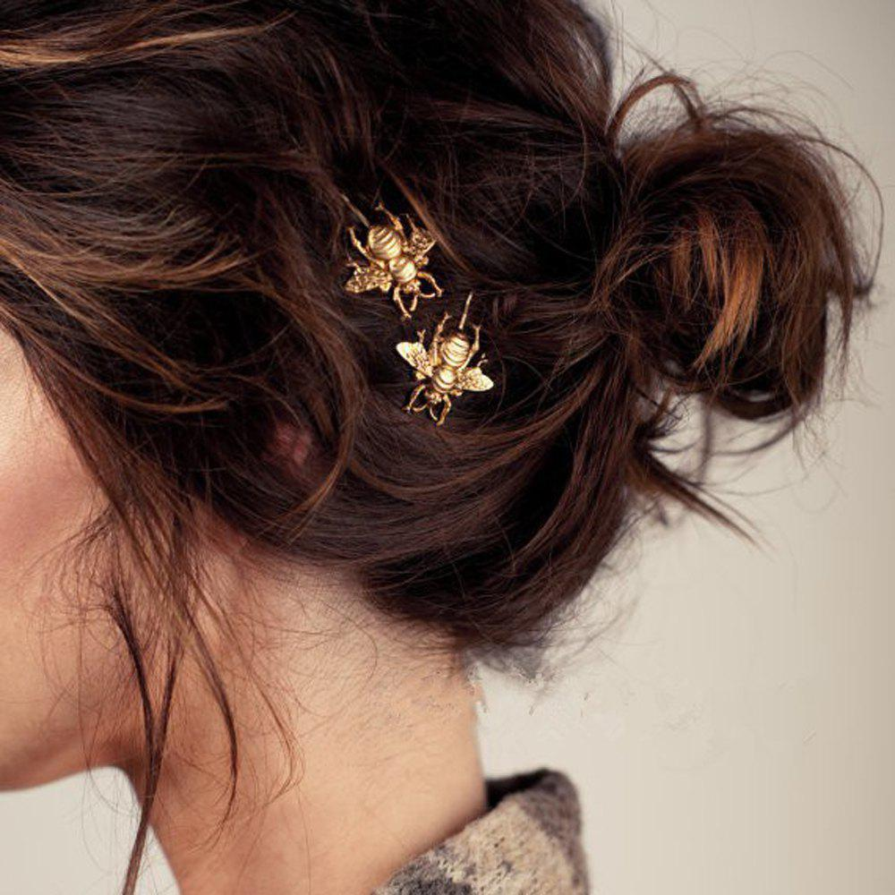 Outfit Gold Color Bee Hair Clip