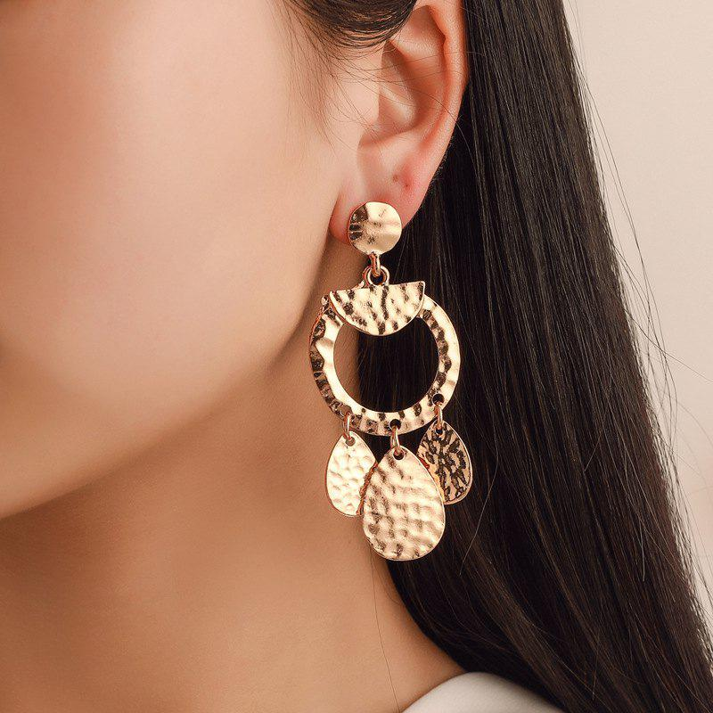 Fashionable and Exaggerated Geometric Disc Pendant Earrings
