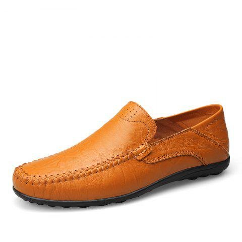Leather Large Size Breathable Men Casual Peas Shoes
