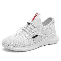 Summer New Fly Mesh Woven Increase Height Breathable Casual Sport Shoes Women -