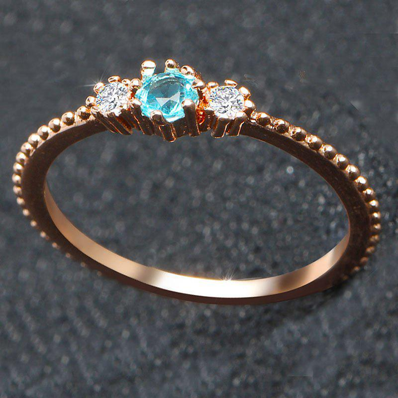 Outfits Women 18K Gold and Silver Natural Aquamarine Sample Engagement Ring