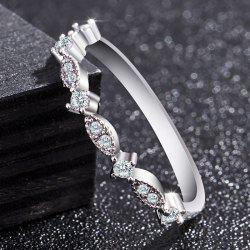 Women Fashion Exquisite Small 14K Gold Small Diamond Silver Ring -