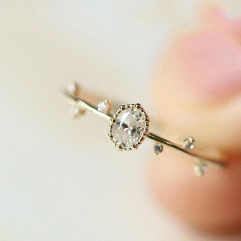 Exquisite Women Rose Gold Filled Diamond Engagement Ring