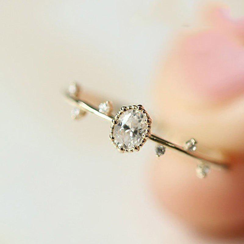 Buy Exquisite Women Rose Gold Filled Diamond Engagement Ring