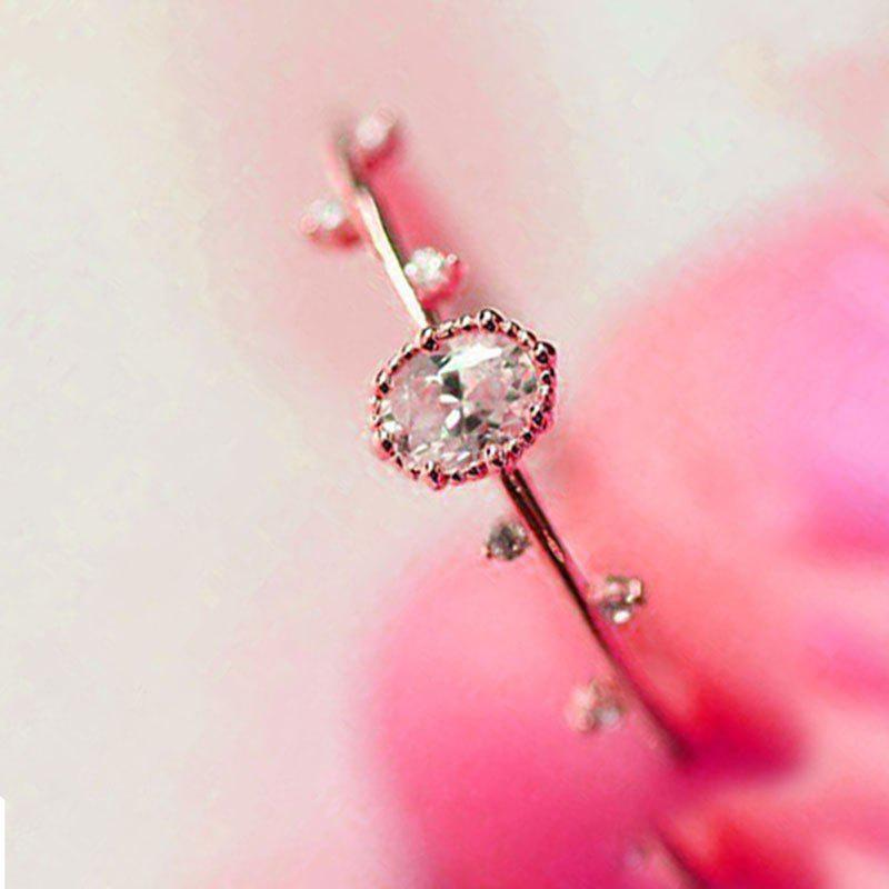Sale Exquisite Women Rose Gold Filled Diamond Engagement Ring