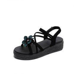 Thick-bottomed Flowers Style Women Sandals -