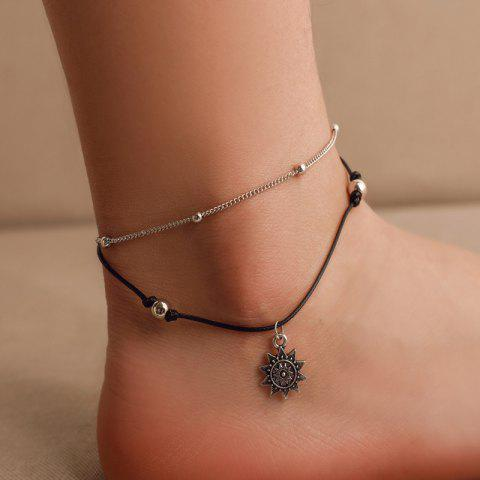 f395e30e7ec 32% OFF  Hollow Dreamcatcher Irregular Turquoise Anklet Feather ...